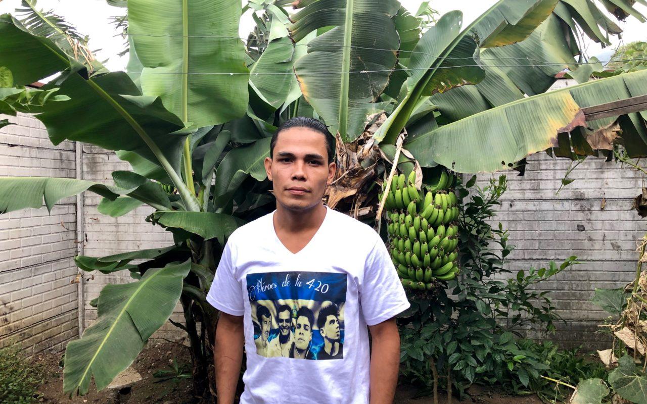 Eyner José López har flytt Nicaragua.