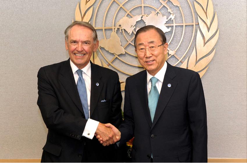 Jan Eliasson med Ban Ki-moon