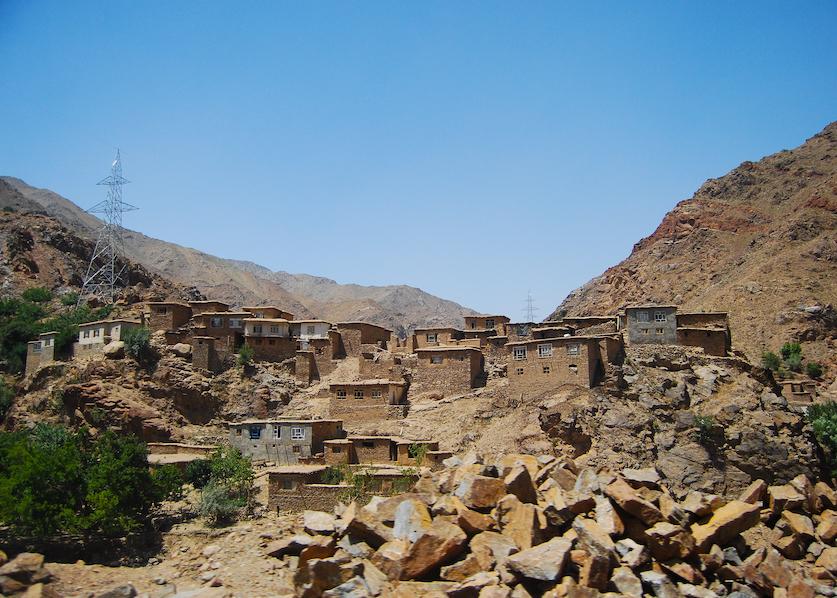 lerhus i en afghansk by